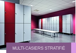 Multi-casiers stratifié